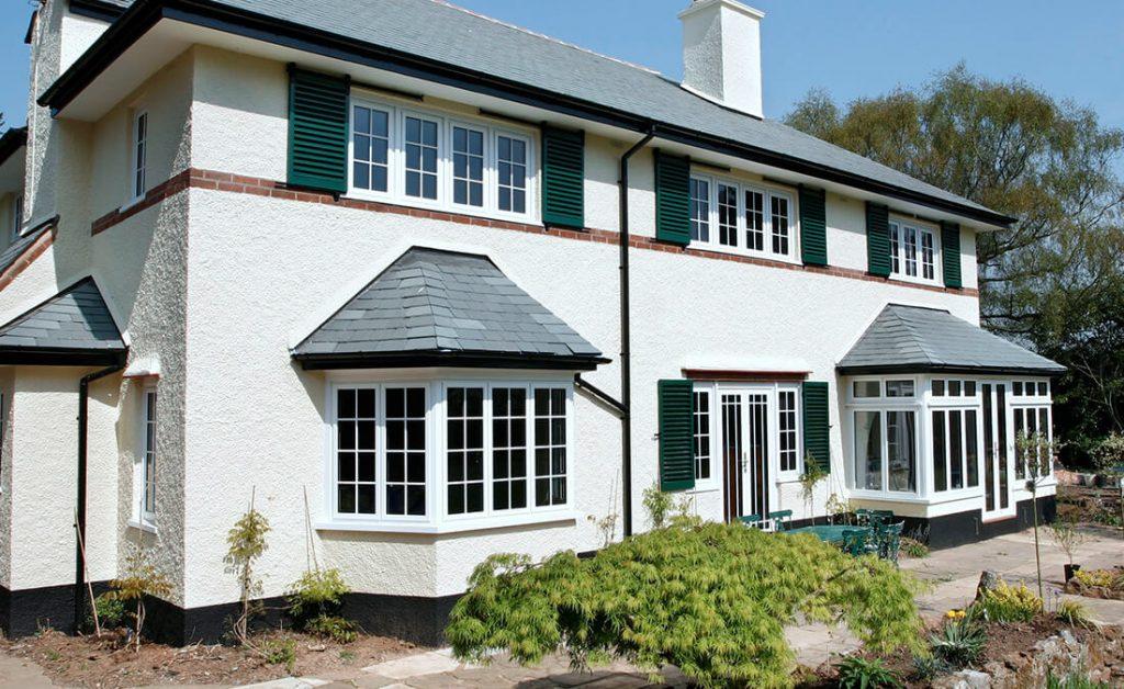 White aluminium casement windows installation