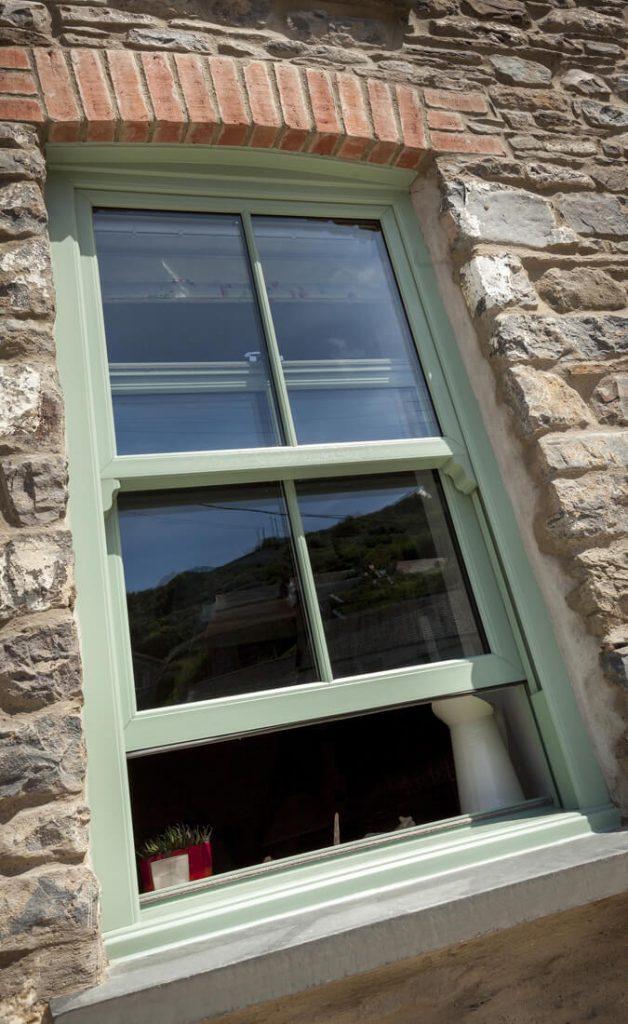 Chartwell green vertical sliding window