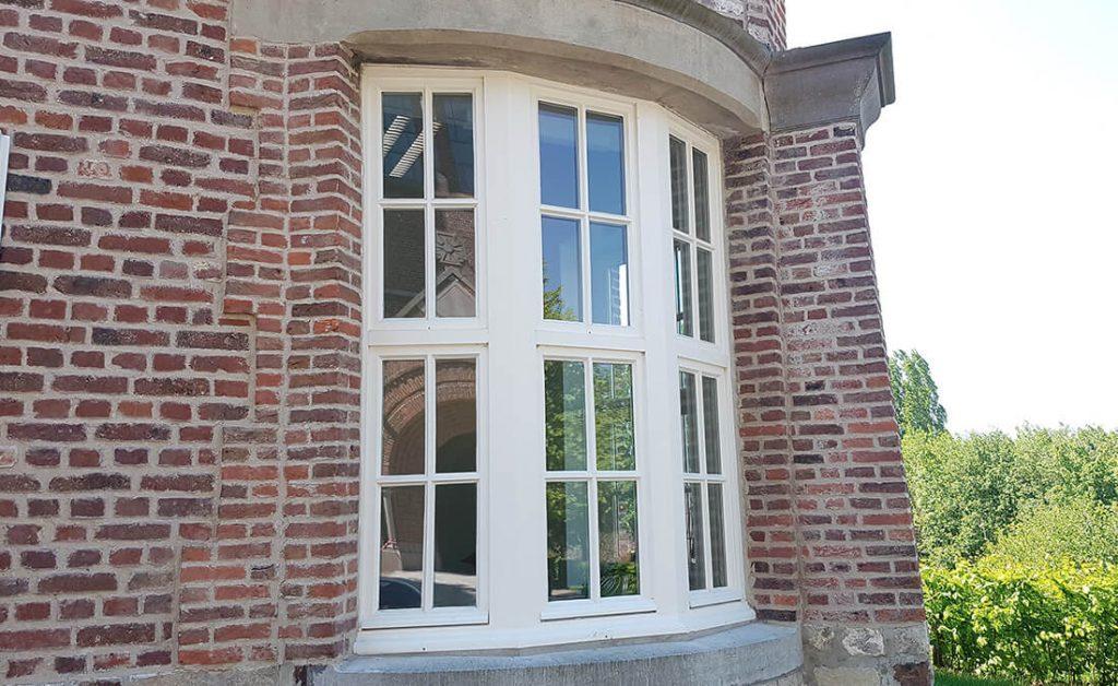 Cream bow tilt and turn windows