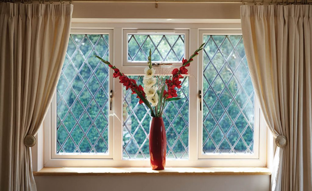 Double glazed casement window interior view