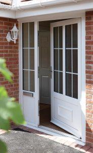 White uPVC entrance door