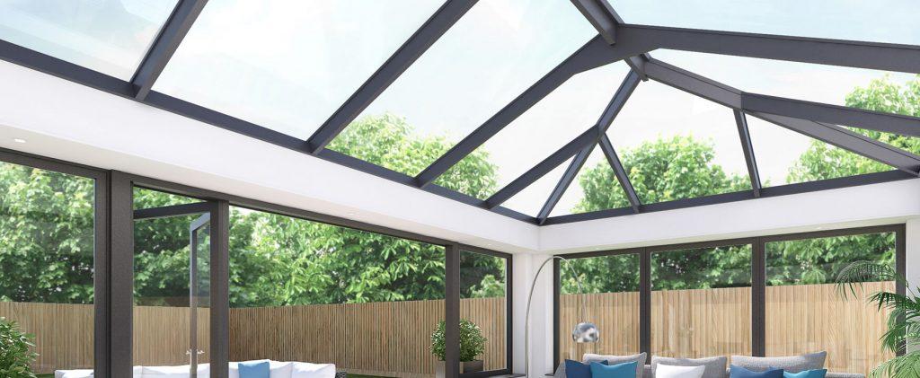 Black skyroom lantern roof