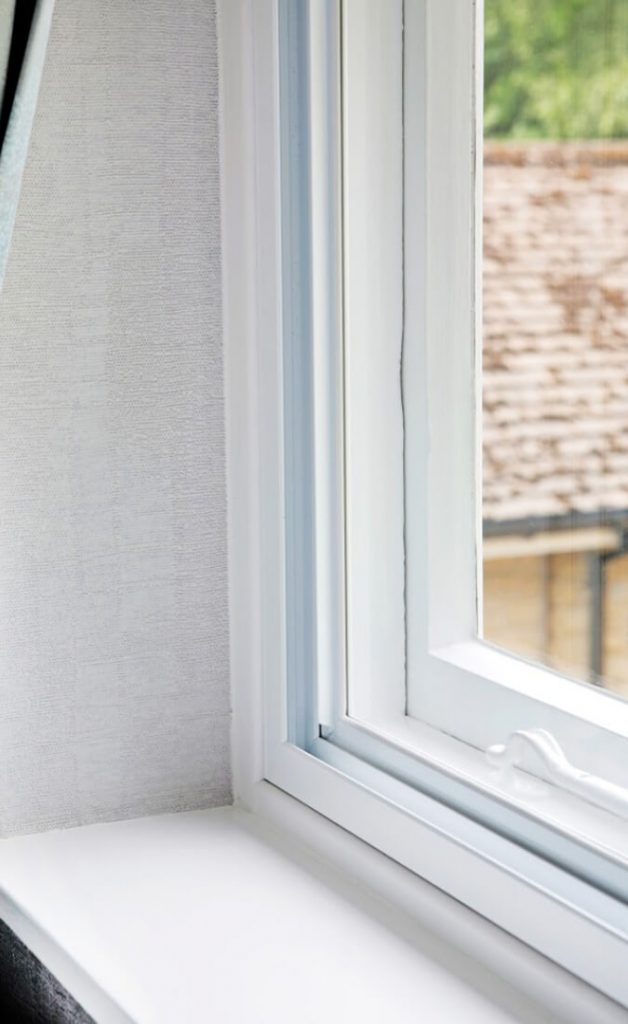 Secondary glazed window close up