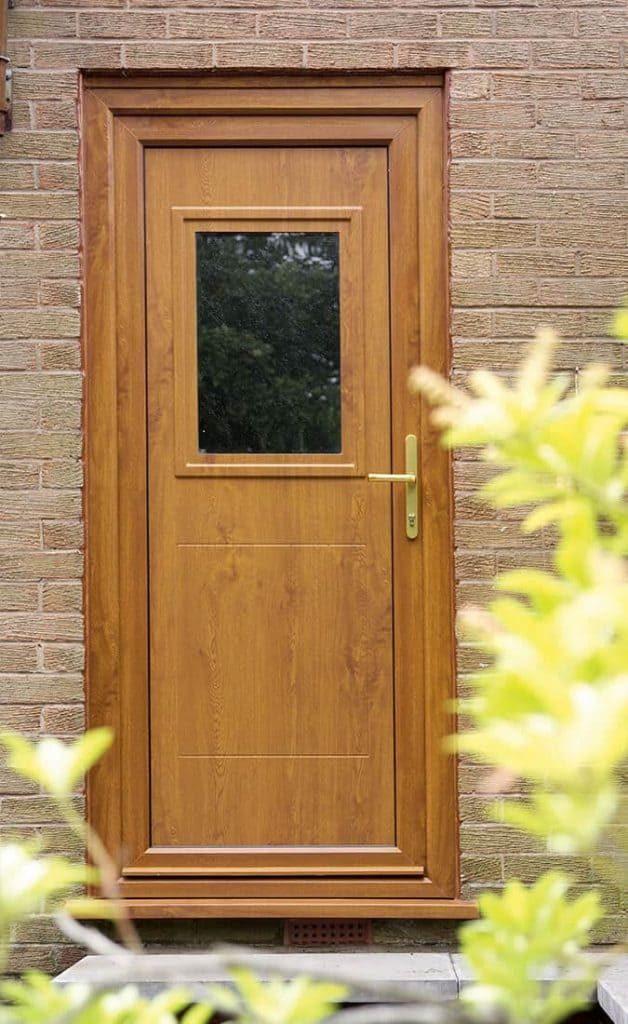 Oak effect uPVC entrance door