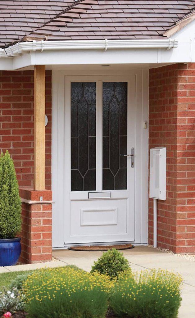 Classic style white uPVC front door