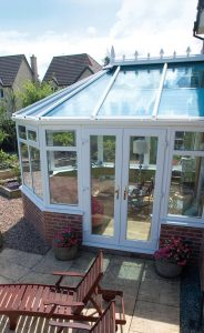 White uPVC Victorian conservatory side view