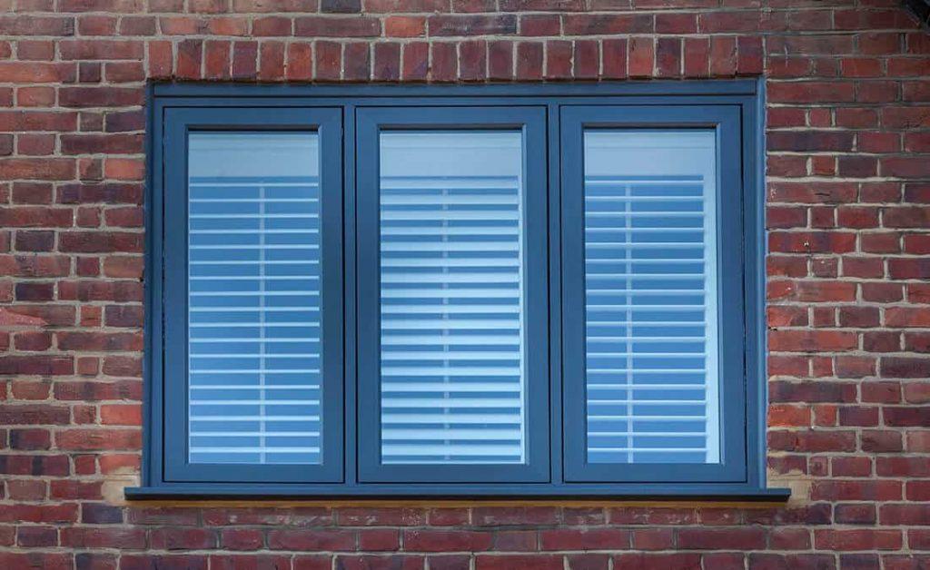 Black uPVC flush sash window