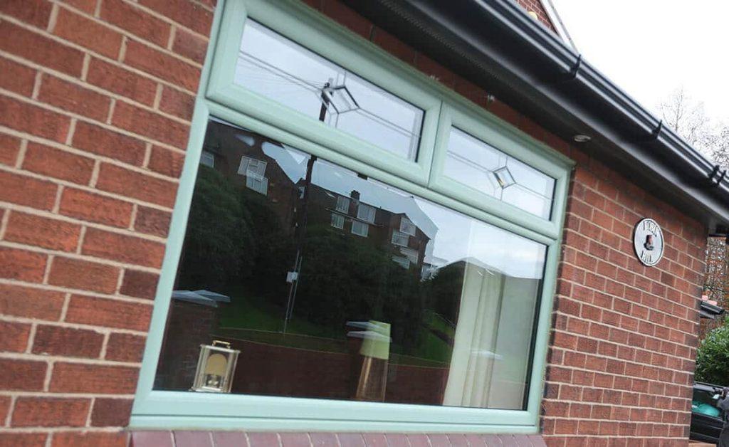 Double glazed chartwell green casement window