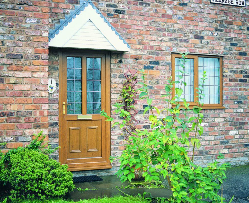 Oak effect uPVC front door