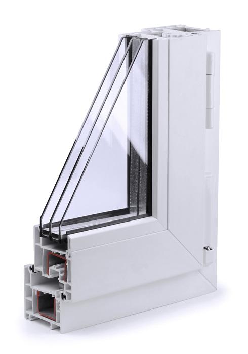 Triple glazed window profile