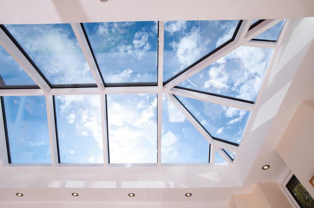 Interior of skyroom orangery roof
